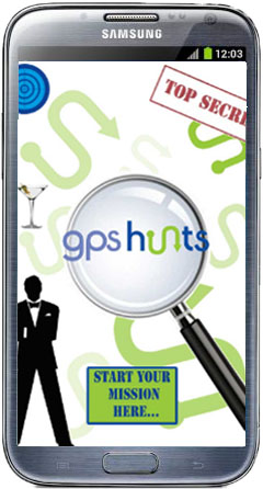 GPS treasure hunt spy mission